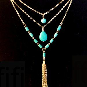 Multi Layer Turquoise Necklace